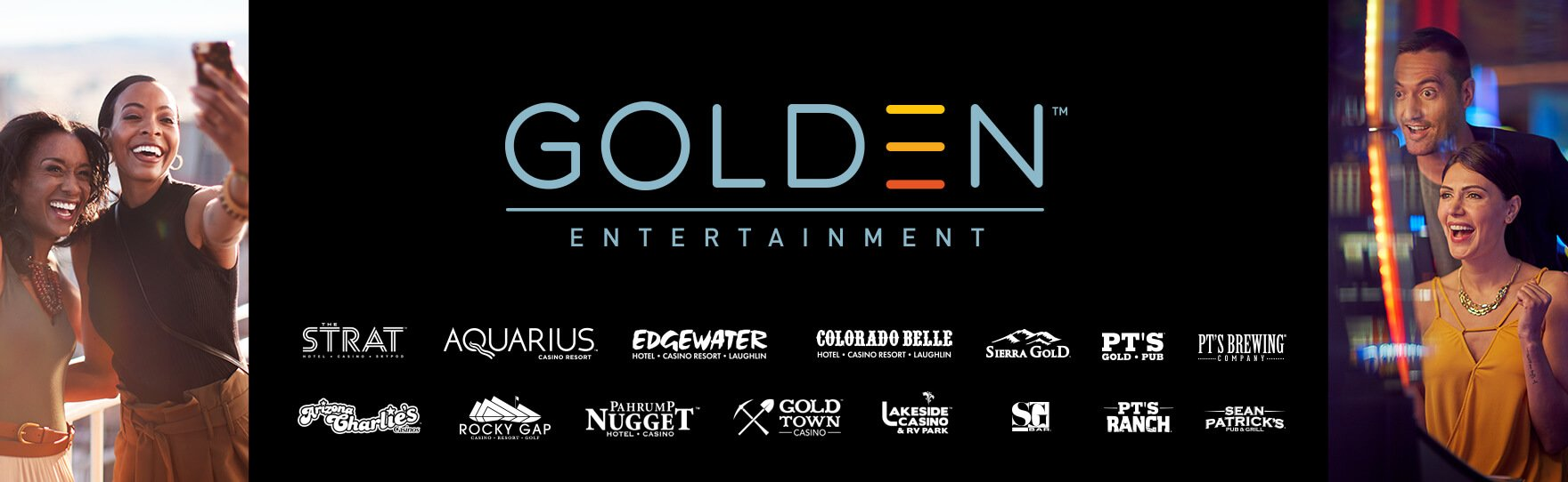 Golden Entertainment brand logos