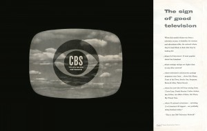 Introductory advertisement for CBS Eye logo. Fortune magazine De