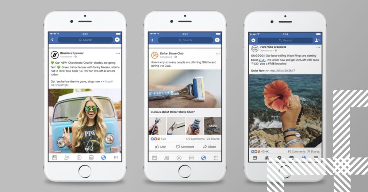 Example of Facebook ad campaigns