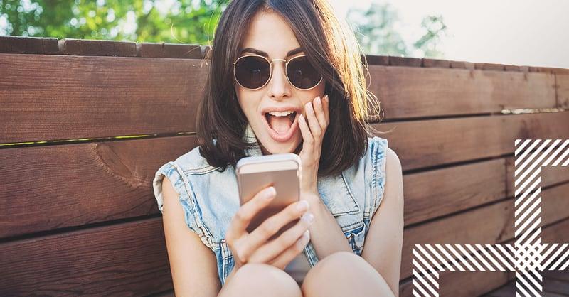 girl viewing Instagram algorithm