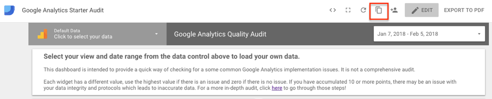 GA quality audit