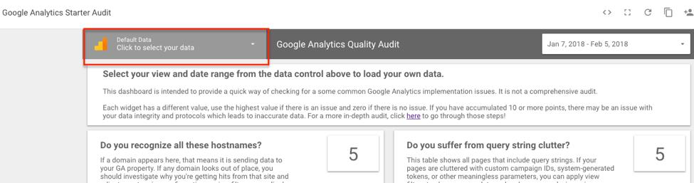 default data