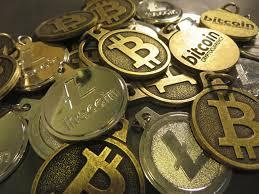shiny bitcoins