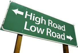 ethics road sign