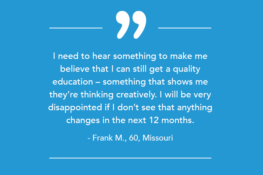 student quote higher education marketing pandemic
