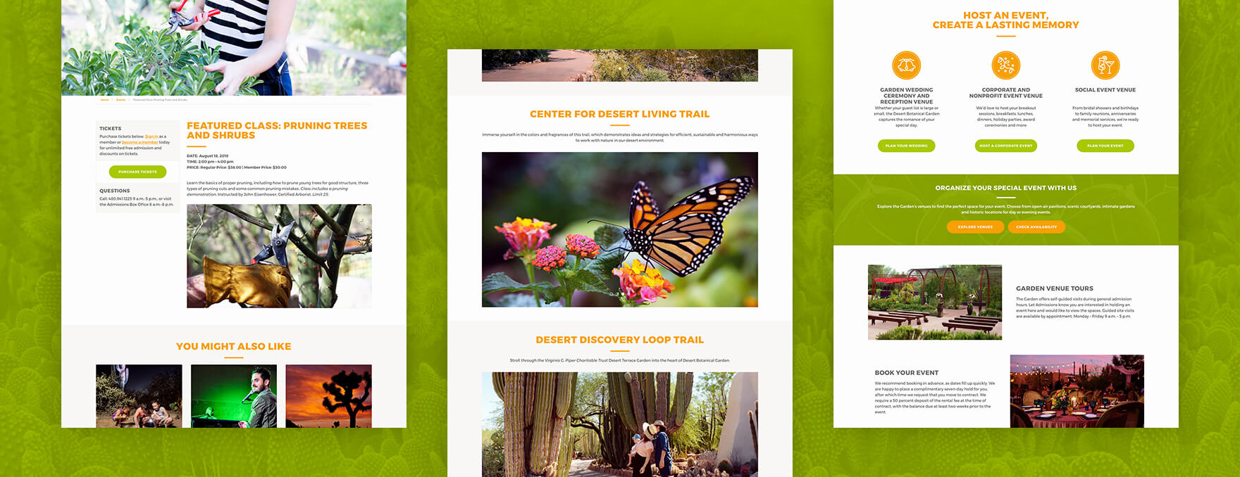 Desert Botanical Garden event page