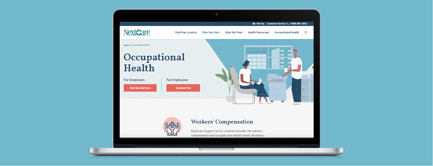 healthcare website redesign homepage view